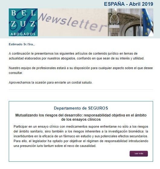 Newsletter España - Abril 2019