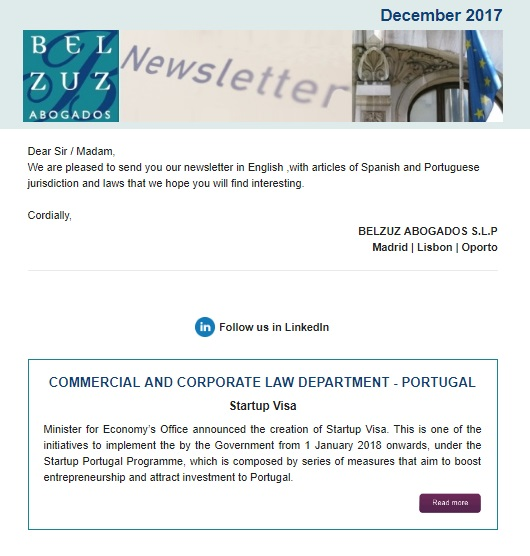 Newsletter Internacional - December 2017