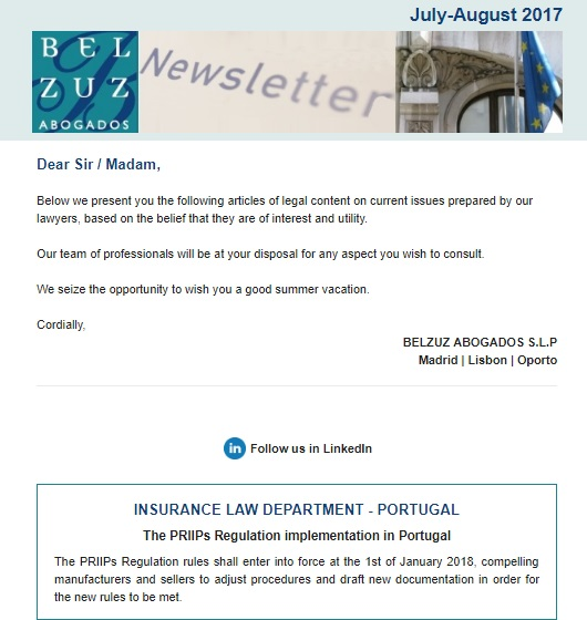 Newsletter Internacional - July-August 2017