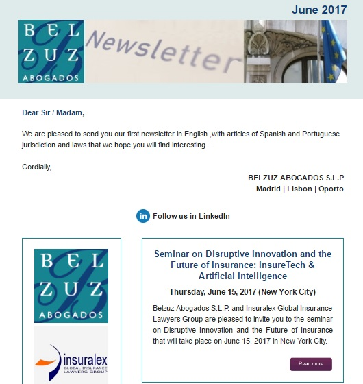 Newsletter Internacional - June 2017