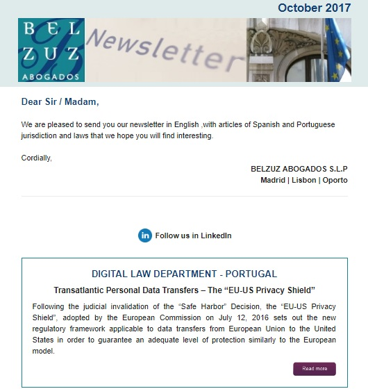 Newsletter Internacional - October 2017