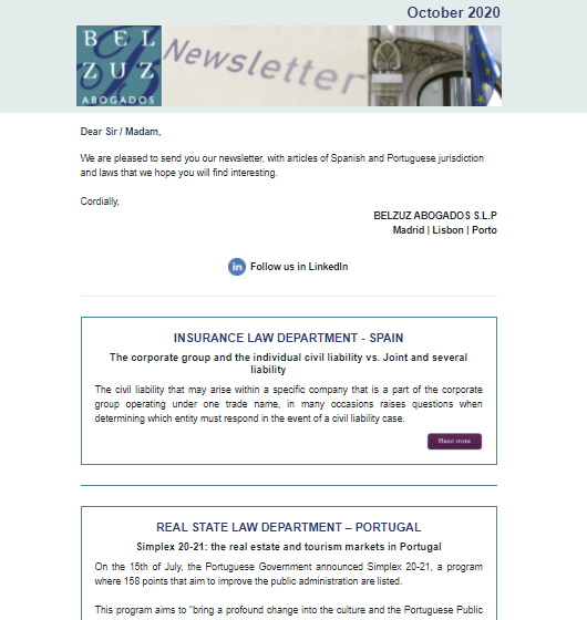 Newsletter Internacional - October 2020