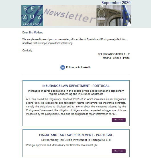 Newsletter Internacional - September 2020