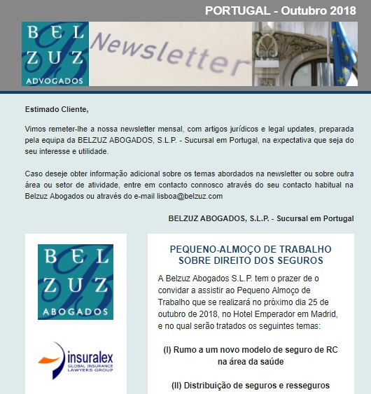 Newsletter Portugal - Outubro 2018
